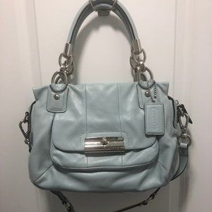 COACH Kristen Turquoise Leather Satchel